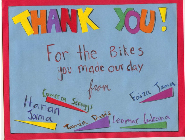 Thank You Card from the Boys & Girls Club